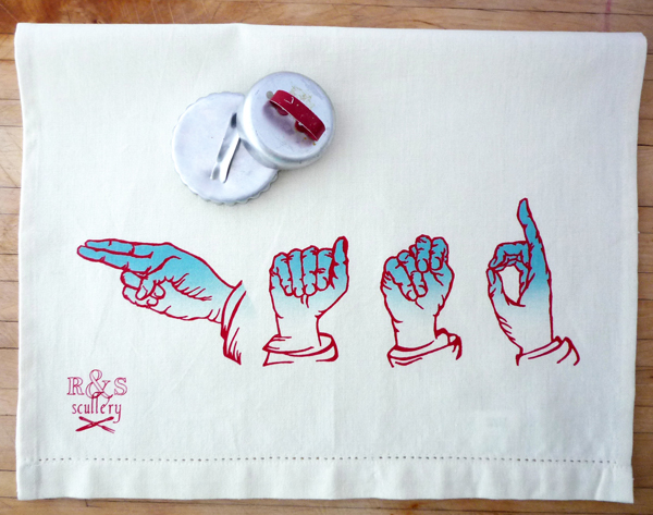 R&ampS Scullery ASL Hand Towel