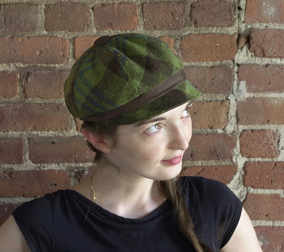 Rocks and Salt Newsboy Hat
